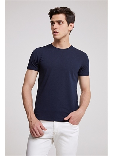 D'S Damat Slim Fit T-Shirt Lacivert